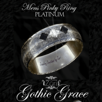 Gothic Grace Mens Pinky Ring