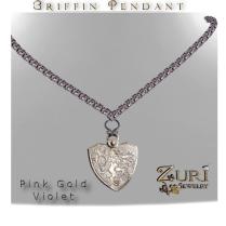 Griffin Pendant Pink Gold Violet
