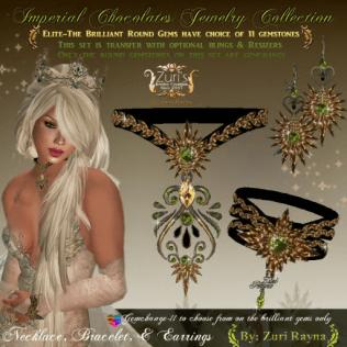 Imperial Chocolates jewelry set