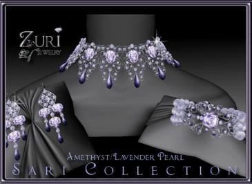 Sari Collection Amethyst-Lavender Pearl