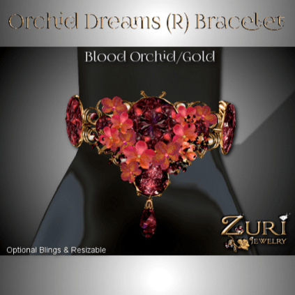 Zuri Rayna - Orchid Bracelet - Blood-Gold (R)PIC