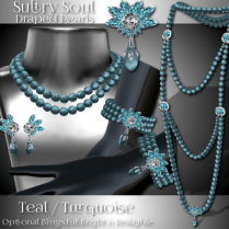 Zuri Rayna~Sultry Soul Draped Pearls - Teal_TurquoisePIC