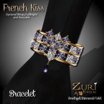 French Kiss - Bracelet - Amethyst_Diamond_Gold