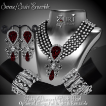 Zuri Rayna - Serene-Sashi Dangle - Ruby_Diamond_BlackPIC