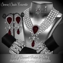 Zuri Rayna - Serene-Sashi Dangle - Ruby_Diamond_PewterPIC