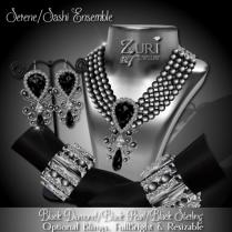 Zuri Rayna-Serene_Sashi Dangle - Black Diamond_BlackPIC