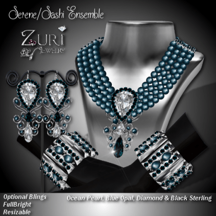 Zuri Rayna-Serene_Sashi Dangle Ensemble-Ocean_Blue Opal_BlkPIC