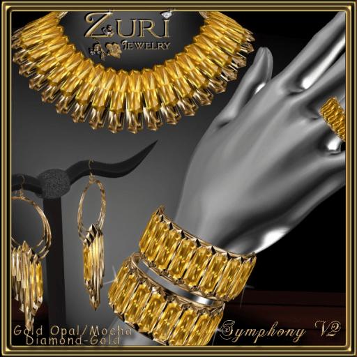 Zuri Rayna's Symphony Crystal V2~Gold Opal_Mocha_Gold