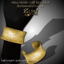 Asha Mesh Bracelet - Hammered Gold