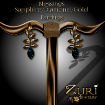 Blessings Earrings - Sapphire_Dia_Gold