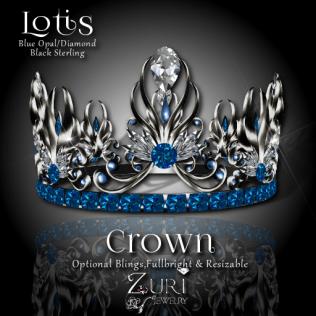 lotis-crown-blue-opal_diamond_blk-sterling
