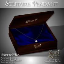 Zuri Rayna - Solitaire Pendant - Diamond_SteelPIC