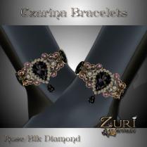 Czarina Bracelets - Rose Black Diamond