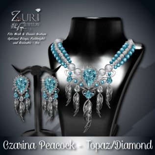 Czarina Peacock - Topaz_Diamond