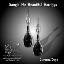 Dangle Me Beautiful Earrings - Diamond_Onyx