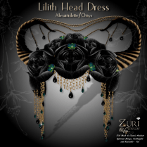 Lilith Head Dress - Alexandrite_Onyx