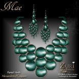 Mae Set - Necklace & Earrings - Alexandrite_Copper