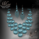 Mae Set - Necklace & Earrings - Turquoise_Copper