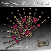 Only You Rose V2 Cuppa Champagne Comb