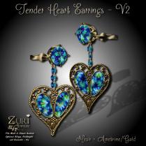 Tender Heart Earrings V2 -Ametrine_Gold