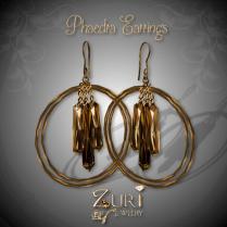 Phaedra Earrings - Golden Highlights