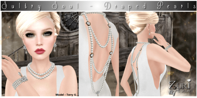 Sultry Soul Draped Pearls - Diamond_Cream