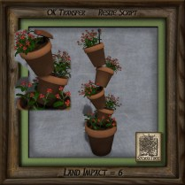 Terracotta Tower of Plants Ac
