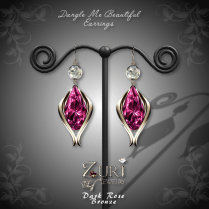 Dangle Me Beautiful Earrings - Dark Rose-Bronze