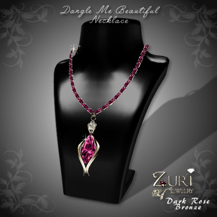 Dangle Me Beautiful Necklace - Dark Rose-Bronze