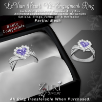 LeVian Heart V2 -Engagement Ring - Amethyst_Dia_Plat