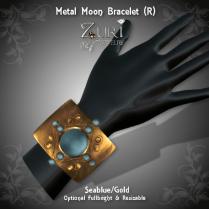 Moon Bracelet (R) Seablue_Gold