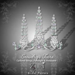 Snowdrops Tiara - Bridal Pastels