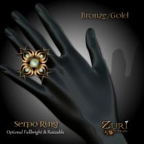 Zuri Rayna -Serpo Ring - Olive_Gold