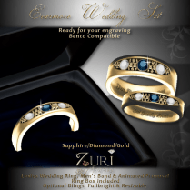 Evermore Wedding Rings Sapphire_Dia_Gold