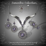 Samantha Collection - Amethyst-Black Diamond