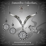 Samantha Collection - Diamond-Blk Sterling
