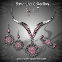 Samantha Collection - Tropical Pink-Blk Diamond