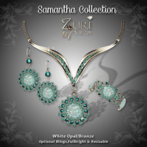Samantha Collection - White Opal-Bronze