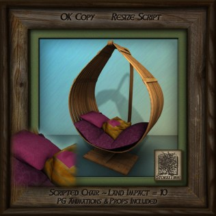 Tropics Teardrop Hanging Chair Aq