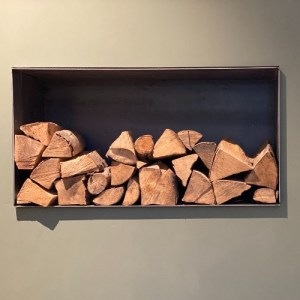 Kaminholzregal zum Wandeinbau