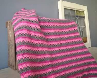 Drie kleuren deken