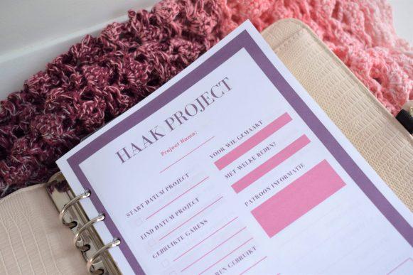Project planner- Kleurrijk en creatief plannen- Free printable