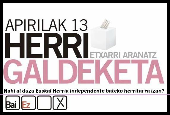 Euskal Herria independente bateko herritarra izan nahi al duzu?