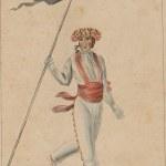 Kaskarot bandera-eramailea, 1828.