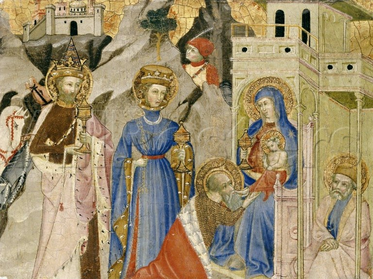 Magoen adorazioa, italiar anonimoa, 1400.