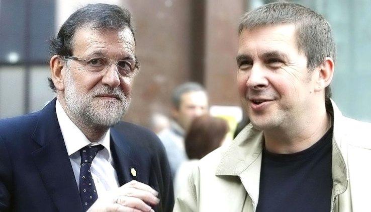 Rajoyk eta Otegik elkarrizketa bat izan dute