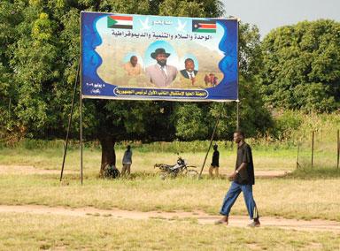 Sudan hegoaldeko erreferenduma iragartzen duen afixa