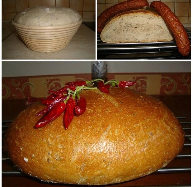 Kváskový špaldový chlieb so semienkami