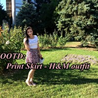 OOTD: Print skirt H&M outfit