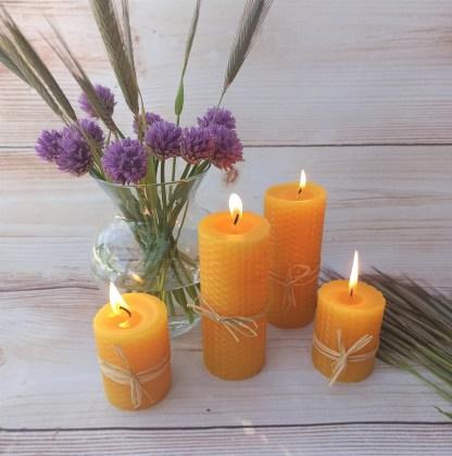 žvakė su bičių vašku